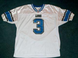 Used Authentic Detroit Lions Joey Harrington Football Jersey 3 Sz 48