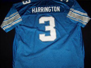Detroit Lions 3 Joey Harrington RBK NFL Football Jersey Size 2XL