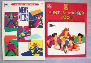 New Kids on The Block Lot 2 Coloring Books 1990 New Unused NKOTB