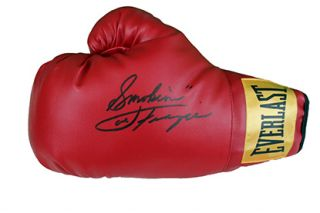 Joe Frazier Smokin Autographed Everlast Boxing Glove Global GAI Holo