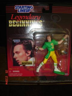 Joe Montana 1998 Starting Line Up Legendary Beginnings