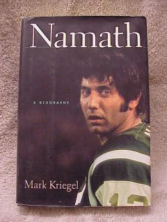 Hardcover Book Namath A Biography Joe Namath NY Jets