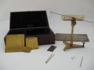 Brass Rag Trade Wool Cotton Pocket Weights Scales Yarn Balance