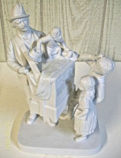 JOHN ROGERS SCHOOL DAYS PORCELAIN BISQUE FIGURINE ROGERS GROUP BY REED