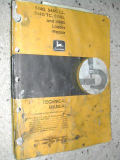 JOHN DEERE 544G LL TC 624G 644G TECHNICAL SERVICE MANUAL WHEEL LOADER