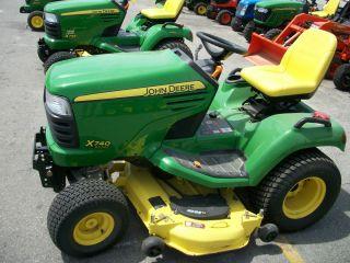 John Deere X740 Diesel Garden Tractor with A 54 inch Mower Deck