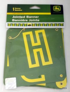 John Deere Jointed Banner Tractor Party Supplies Birthday Green Farmer