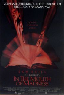 In The Mouth of Madness Movie Poster John Carpenter