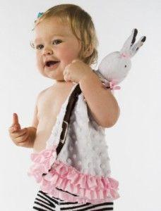 Mud Pie Wild Child Minky Bunny Security Blanket Soft and Cuddly