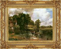 Extra Large Framed John Constable The Hay Wain Painting Repro Canvas