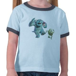 Mike, Sulley, and Boo Running Disney Tee Shirt