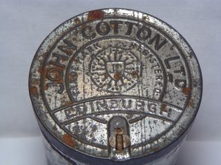 Vintage John Cotton Ltd Edinburgh Tobacco Tin