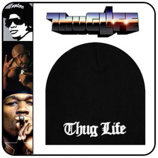 New Compton Thug Life Beanie Hat Cap Black 6 Ski Skull