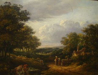 Norwich School Landscape Antique Oil Painting John Crome Interest