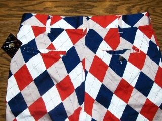 John Daly LOUDMOUTH Golf Shorts RED WHITE & BLUE New NWT Sz. 34 LOUD