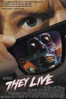 They Live 1988 John Carpenter Cult Horror Movie Poster