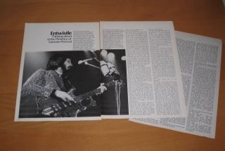 1977 Interview John Entwistle of The Who