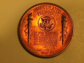 JFK John F Kennedy Inaugurated President Jan 20 1961 Coin w W