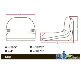 John Deere Replacement Seat GY20495 LA100 L100 L105 L108 L110 L111