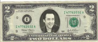 John Cusak $2 Dollar Bill Mint RARE $1