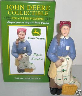 Sarah Laundry Day John Deere Sculpture Figurine