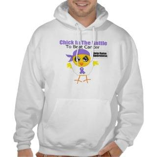 Hodgkins Disease Chick In the Battle Pullover from Zazzle