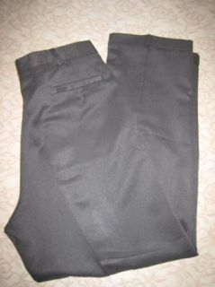 John Henry Gray Dress Trousers Pants Slacks Double Pleat Cuffed Leg 38 x 32
