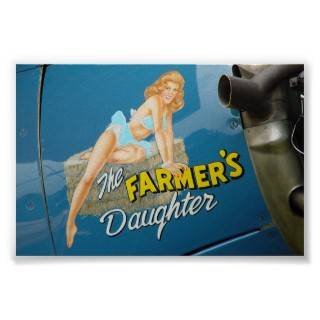 "Aviation Nose Art ""The Farmer's Daughter"" Poster from Zazzle"