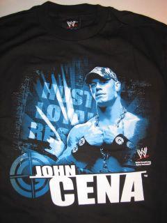John Cena Blue Hustle WWE Wrestling T Shirt
