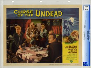 CURSE OF THE UNDEAD 1959 LOBBY CARD 4 CGC NM 9 2 KATHLEEN CROWLEY