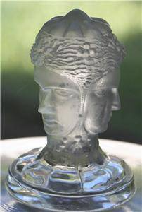 Antique EAPG Duncan 3 Three Face Graces Compote Flint Glass Figural Art Nouveau