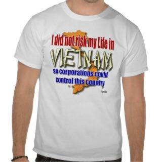 Vietnam Vet Protest Wall Street Shirts