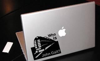 Atlas Shrugged John Galt MacBook Car Tablet Art Vinyl Decal