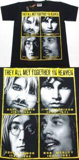 Bob Mar Kurt Cobain Jim Morrison John Lennon T Shirt