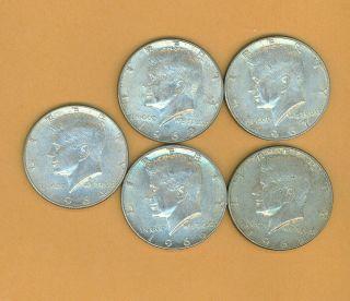 1964 1969 JFK John F Kennedy Silver Half Dollar 5 Coins P D 502