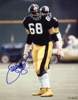 L C Greenwood Autograph Signed 8x10 Photo w Henry Davis Steelers