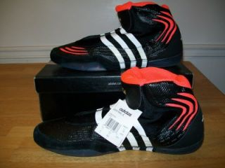 NWT ADIDAS ADISTRIKE JOHN W SMITH WRESTLING SHOES MENS SIZE 15 BLACK WHITE RED