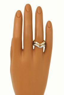 Designer Alfieri St John 2 Tone 18K Gold Diamonds Ladies Band Ring Set 2