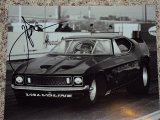 John Force AUTO 1970s Funny Car NIGHTSTALKER NHRA SIGNED 8x10 Photo AUTOGRAPHED