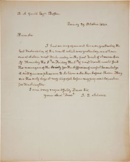 President John Quincy Adams Autograph Letter Signed as Congressman