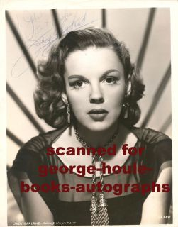 Judy Garland Vtg MGM Inscribed to Lover