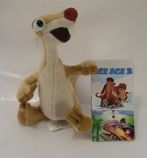"Ice Age 3 Dawn Dinosaurs Sid Plush Cute 6"" New 100"