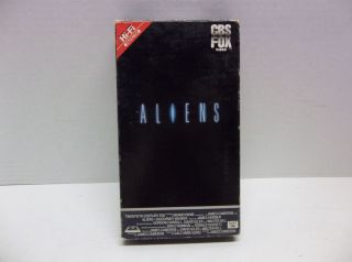 Original SI Fi CBS Fox Aliens VHS Movie Sigourney Weaver John Hurt Stanton Holm