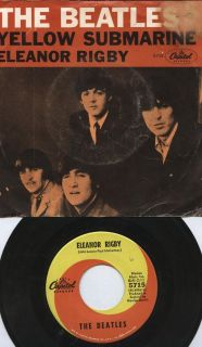 The Beatles 45 Eleanor Rigby Yellow Submarine Capitol 5715 John Paul P Sleeve