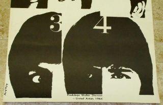 1964 The Beatles A Hard Days Night Polish UA Poster