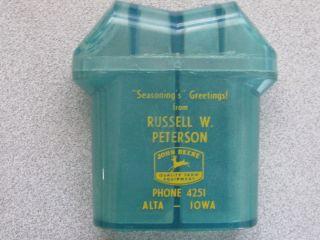 Vintage Salt Pepper Shaker John Deere Russell Peterson Alta Lowa