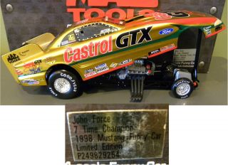 John Force 7x 1998 Gold Ford Mustang Funny Car Mac Tools Collectors Club