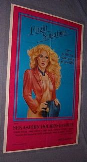 Original 1983 Flight Sensations 27x41 John Holmes Seka