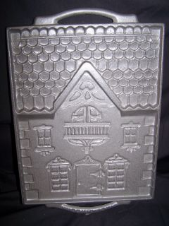 John Wright Victorian Gingerbread House Mold Large Perfect