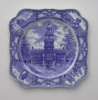 Independence Hall from Colonial Times Series by Crown Ducal Collector Plate